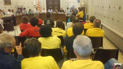 Ple municipal de la Seu d'Urgell del 22 de setembre de 2014. Foto: ÒC-ANC