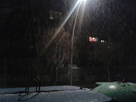 Nevant amb ganes el 4 de març a la nit.