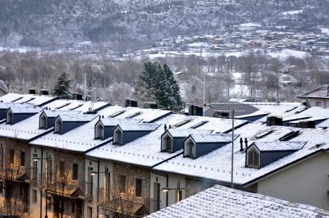 Neu urbana i rural aquest matí.